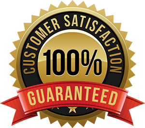 Customer-satisfaction-guaranteed-gold-badge-and-banner-in-gold-and-red.